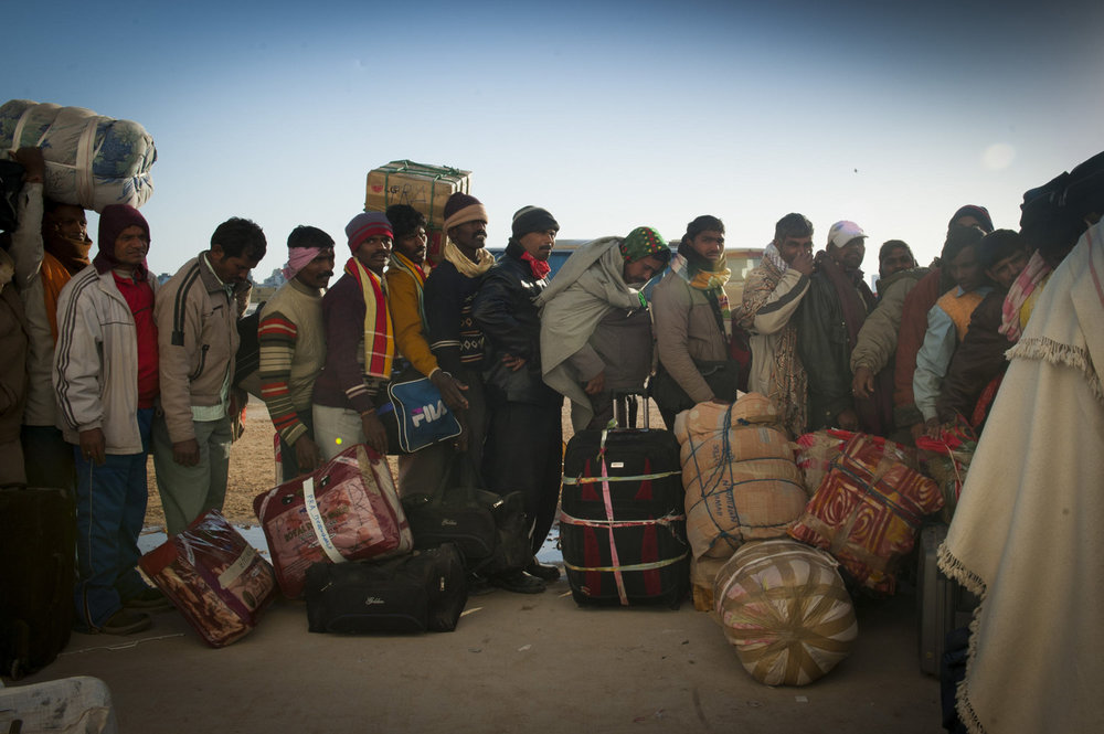 Bengalis wait to board a greek cruise ship, attempting to flee Libya. The humanitarian emergency in eastern Libya has resulted in the exodus of many foreign workers forced to rely on the UN and international organizations to leave the country.