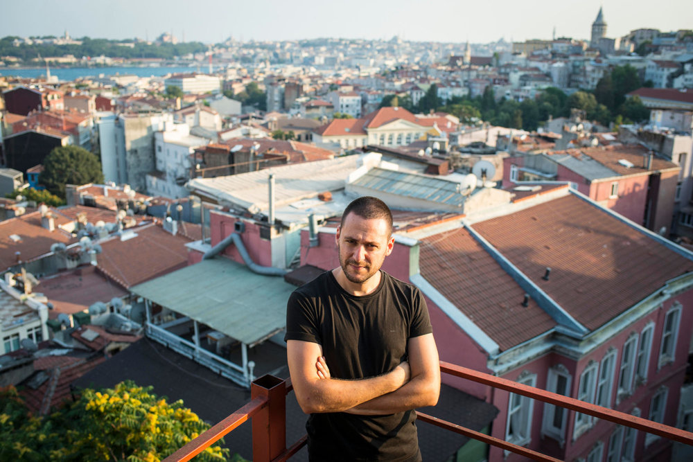 Chief editor of Bir Gun Baris Ince, one of the accused journalists, photographed on August 5th, 2015 in Istanbul, Turkey.