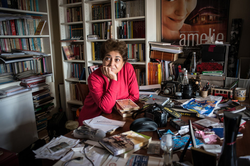 Emek, at her home office in Izmir, Turkey. Emek is a spiritual advisor as well as a medium.