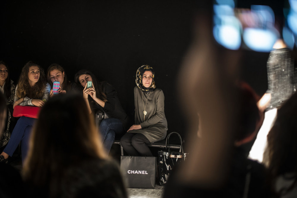 During the Meltem Özbek show at Istanbul Fashion Week.