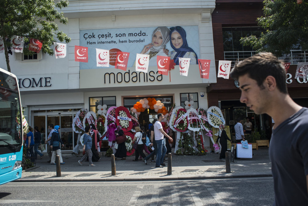 The grand opening of Modanisa's first store. The brand, previously found exclusively online is expanding to stores with two locations in Istanbul, Turkey.