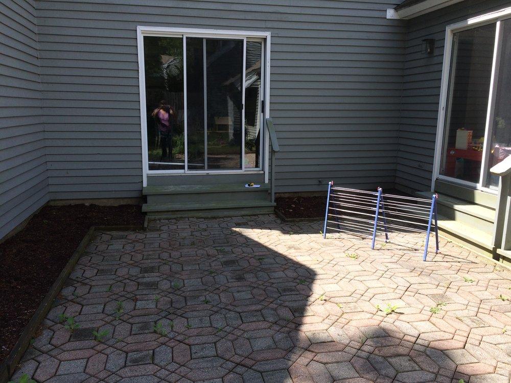 Condominium courtyard, Wayland, MA