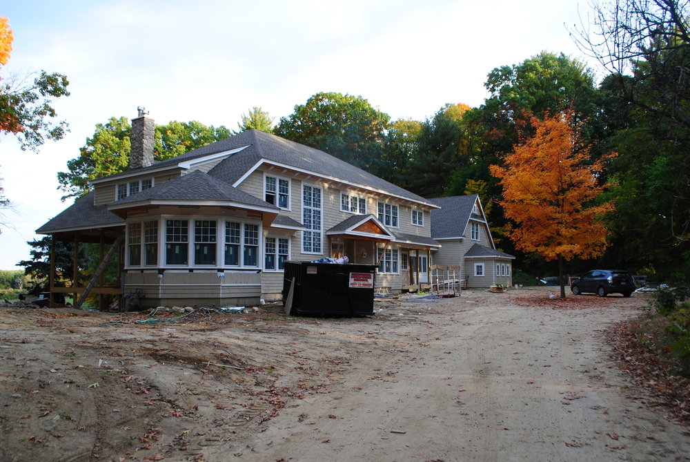 Front and foundation plantings for a newly constructed house, Concord, MA
