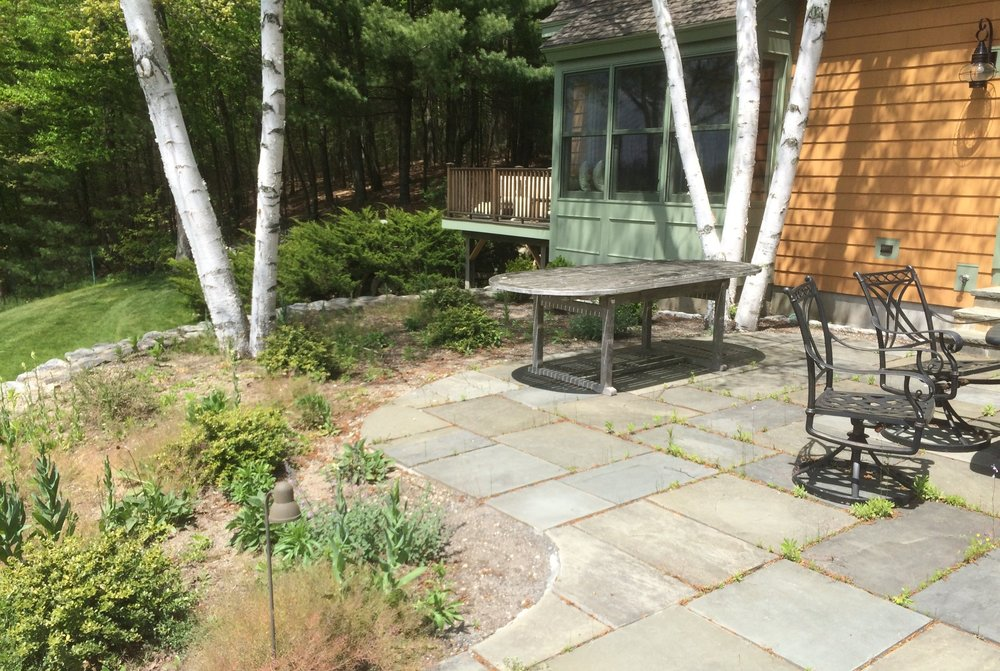 Rear raised patio, Concord, MA