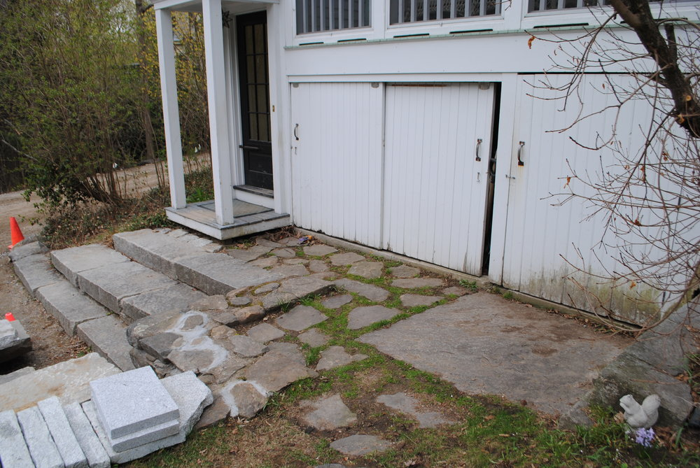 Rear entrance steps, Concord, MA