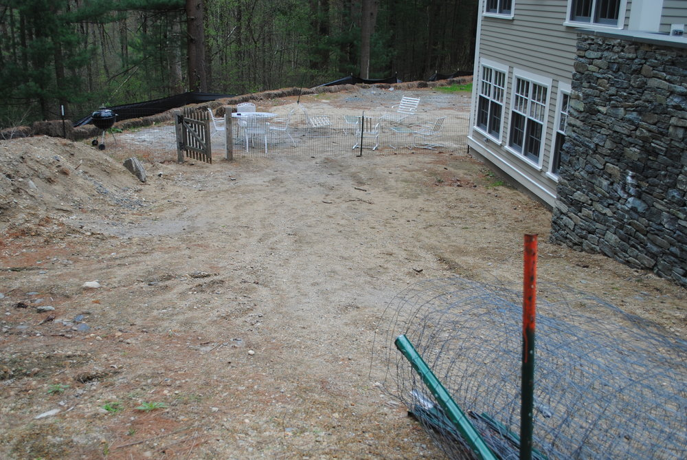 Rear patio area, Sudbury, MA