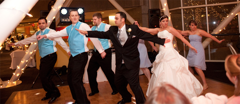 "Our Wedding Party dancing to ""Thriller""."