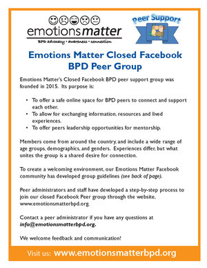 Click the image above to download our peer support group flyer.
