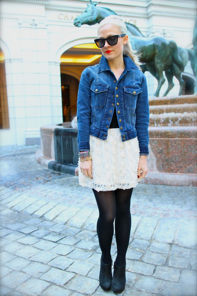 Pair your Westward Leaning shades with a denim jacket and a frilly skirt. Check out this super-chic look at Wear a Wishbone.