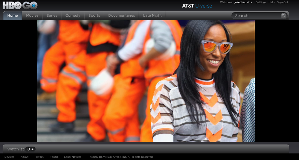 """Lights Camera Action! Check out Westward Leaning in a shot from HBO's new documentary about Vogue Magazine, """"The Editors Eye"""", featuring Shiona Turini"""
