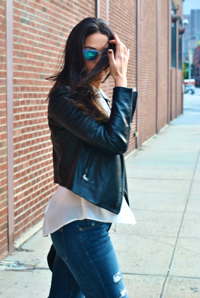 Westward Leaning sunglasses add a romantic touch in Downtown Romantic