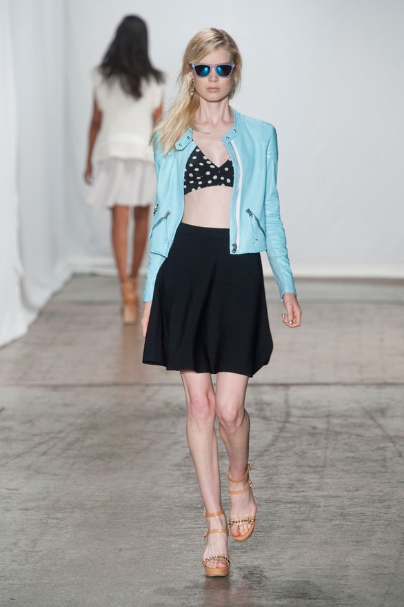More from the Rebecca Taylor show. Love the jacket, love the shades. (Image via FabSugar).