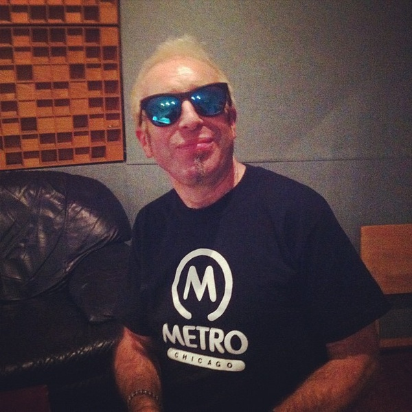 Mars Williams of The Psychedelic Furs fame wears Westward \ \ Leaning N°9 in blue while recording with Ghosthouse.