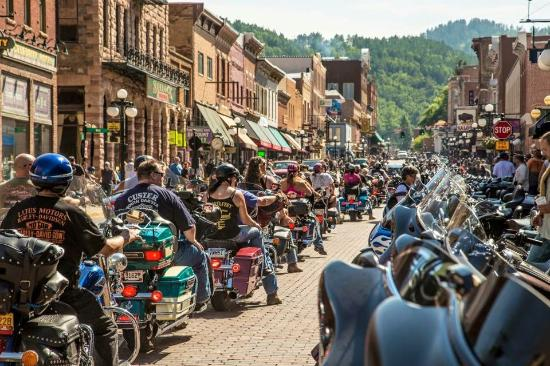 Deadwood, Lower Main Street during Rally Week