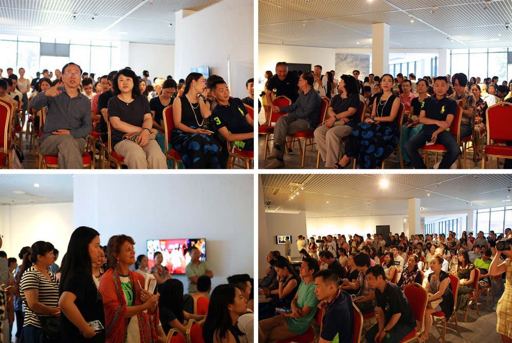 "On June 12, Tan Tan organized an ""award ceremony"" of ""Chongqing Stop. In addition to hundreds of spectators, many famous people in the art circle attended the ceremony, such as art critic Wang Lin, artist Li Zhanyang, and the director of Chongqing Changjiang Contemporary Art Museum. The space is fulfilled with enthusiastic crowd..."