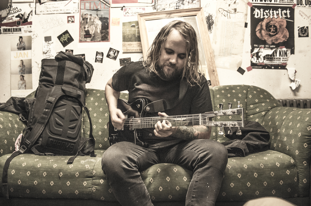 Eric Jernigan of City of Ships/Rosetta/Driftoff. Rosetta tour, Europe,summer 2015.