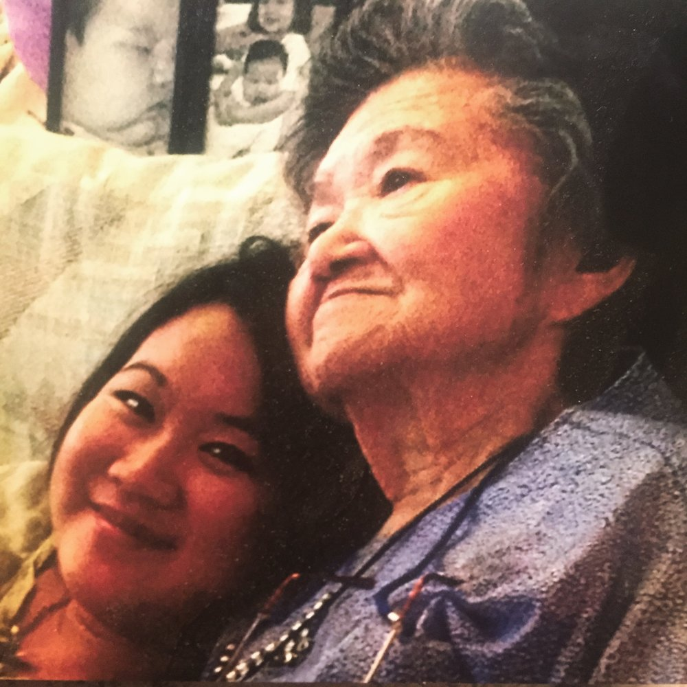 Lauren Wong and Grandma Huie