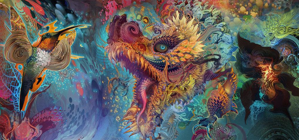 Humming Dragon,  Android Jones