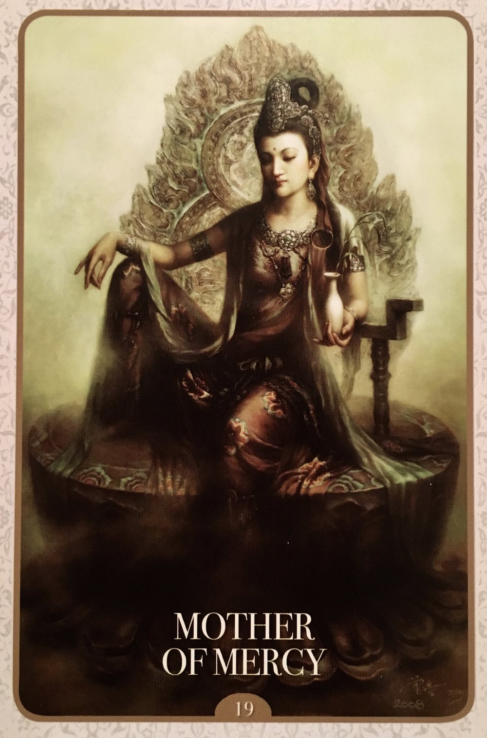 Kuan Yin,  Mother of Mercy Oracle Card