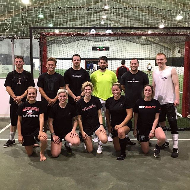 B league CHAMPIONS . . #indoorsoccer #omahaindoorsoccer #champs #movingonup #teamstelle #sundayfunday #soccersunday