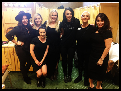 W Academy of Salon + Spa instructors Elayne Becker and Lillian Denmead-Miller were hard at work with their senior cosmetologists!