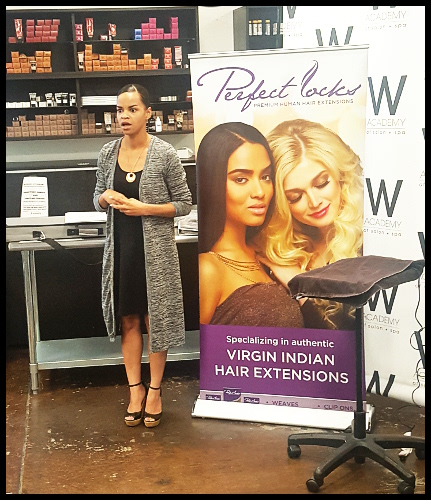 Retail & Wholesale Manager Iman Jones gave students an exciting proposition - a hair extension certification class!