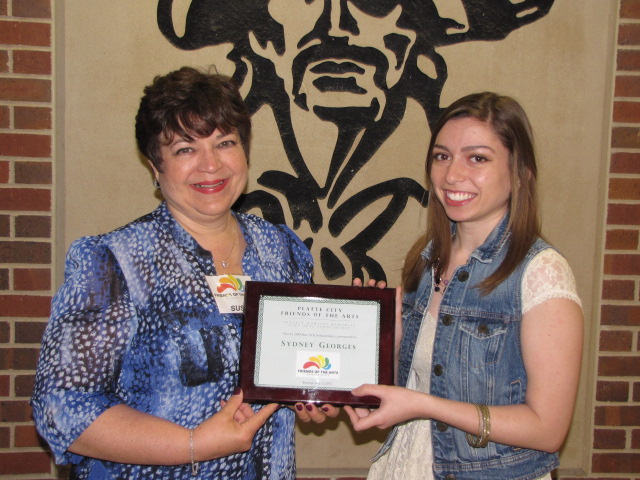 Sydney Georges - 2015 Scholarship Recipient with Chairperson Susan Anderson