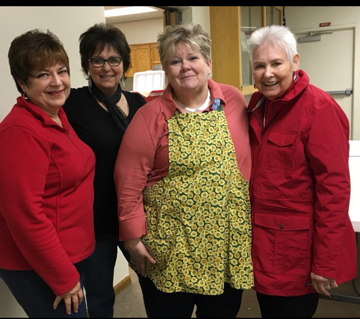 Left to right - Susan Anderson (Current Chairperson), Terry Cox Durand, Debbie Dance Uhrig and Sharon Short.