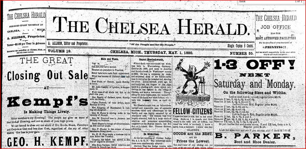 1890 - take a look under the 'Here and There' column