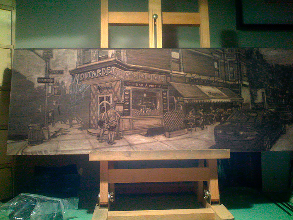 Café Moutarde Underpainting