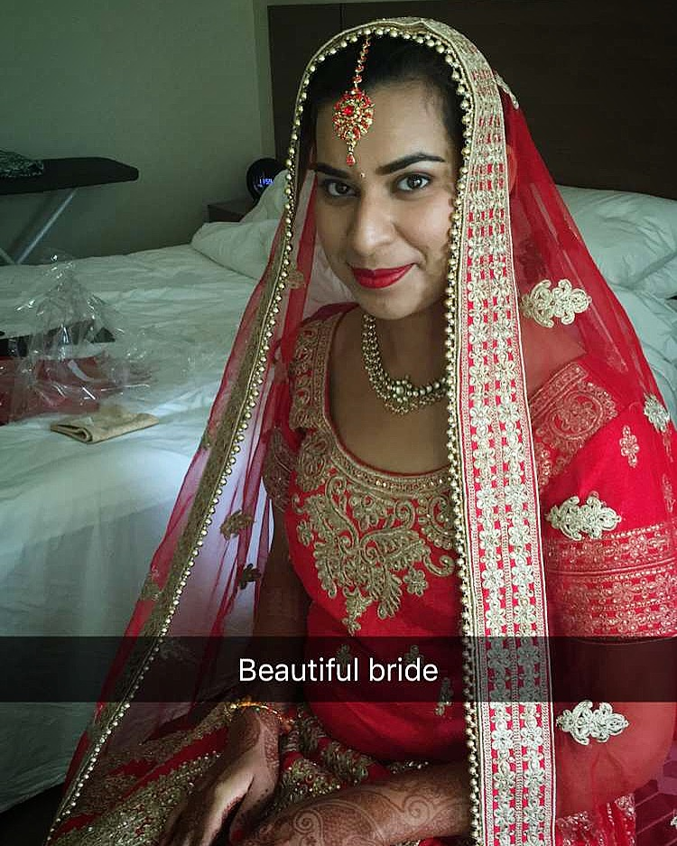 Beautiful  Indian Bride with Hair and Makeup  by Amber at Verdo Hair and Makeup