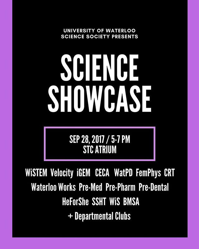 Want to know more about our exciting technology? Come join us at Scisoc's Science Showcase! Event is Thursday, September 28th (5pm - 7pm) at the Science Teaching Complex. Stay in the loop!