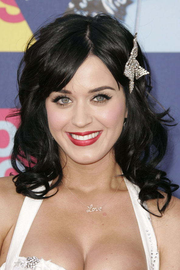 Katy Perry and a questionable bedazzled hair bow