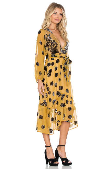 For Love & Lemons Heather Scarf Midid Dress