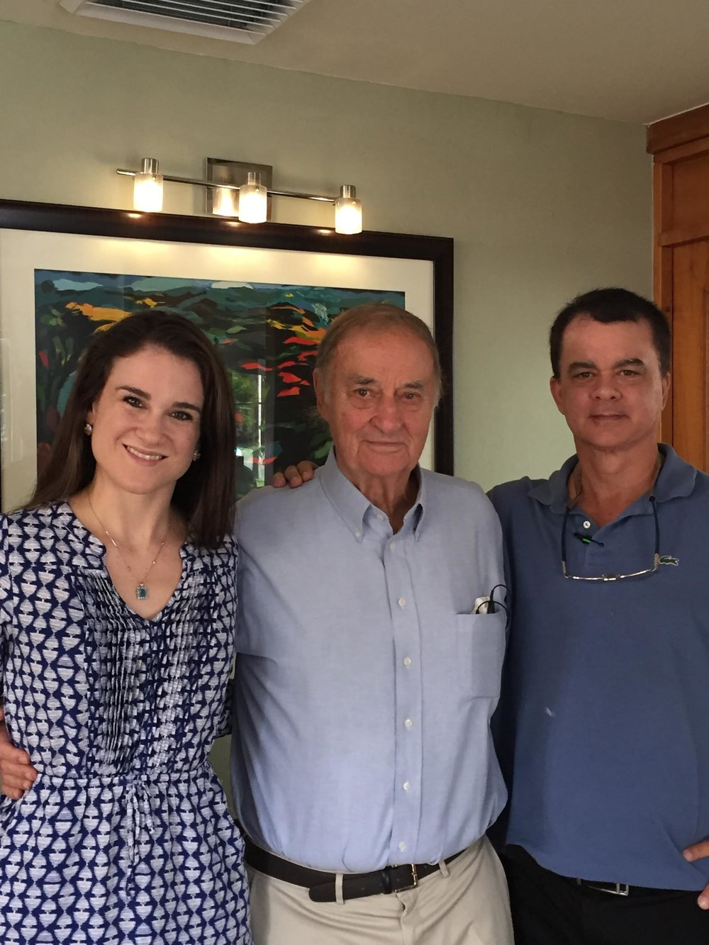 Dr. Victoria Keir with her grandfather, Dr. Hilt Tatum II, and her uncle, Dr. Hilt Tatum III.  This photo was taken courtesy of Mrs. Scarlett Tatum at the Advanced Dental Implant Institute AAID Maxicourse in San Juan, Puerto Rico.