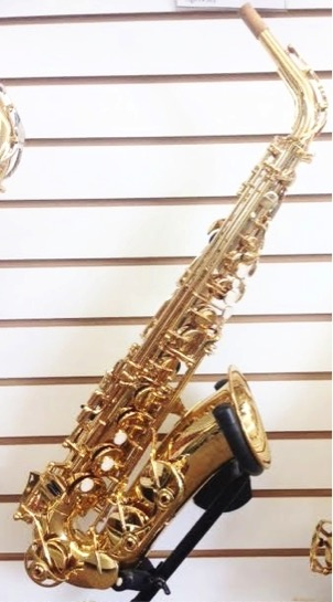 Yamaha YAS300AD Alto Saxophone   This saxophone is an ideal student model with brass lacquer keys. It includes a quick response high F# key.  Call for pricing