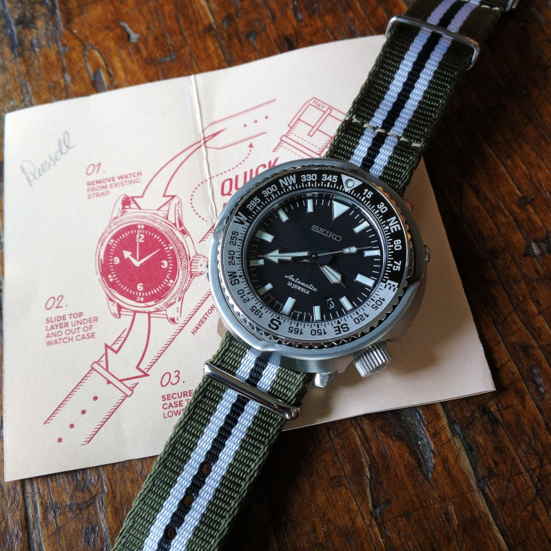 The Seiko Fieldmaster SBDC011 on the Haveston Invasion Strap