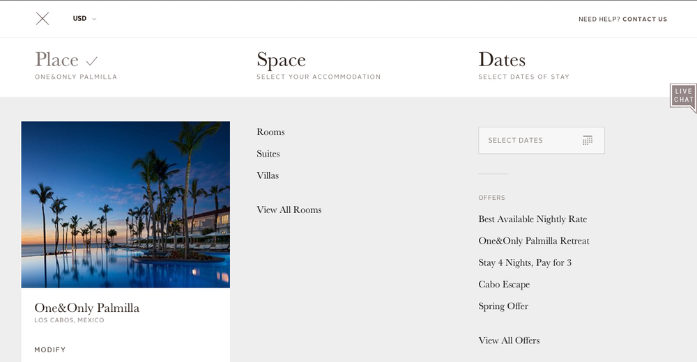 Detail page - resort rooms & facilities