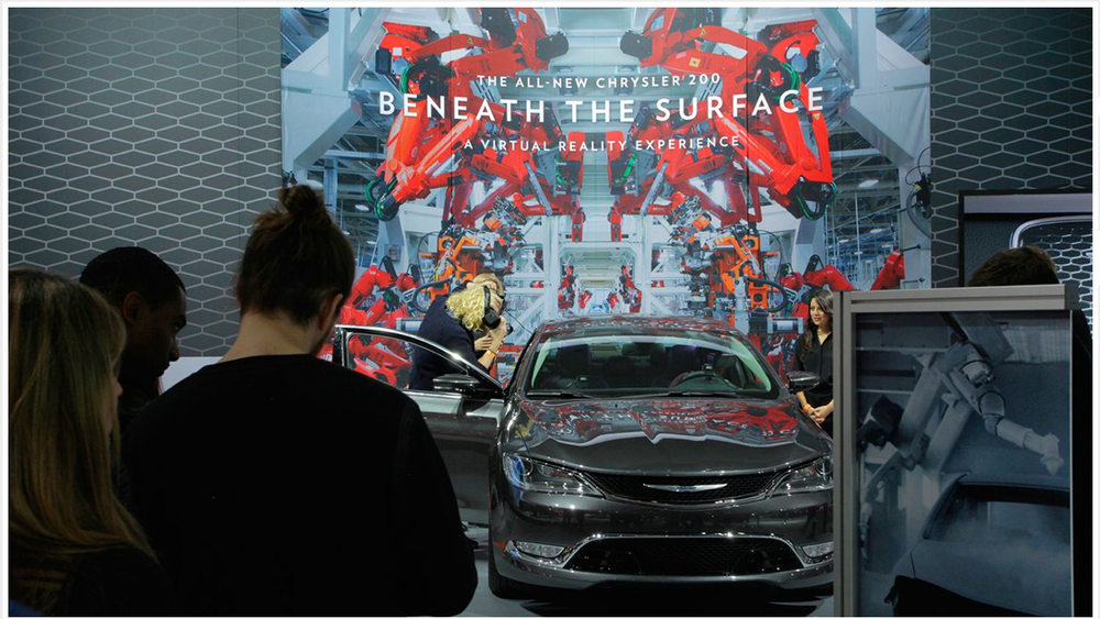 'Beneath the Surface' - Chrysler stand at the LA Motorshow