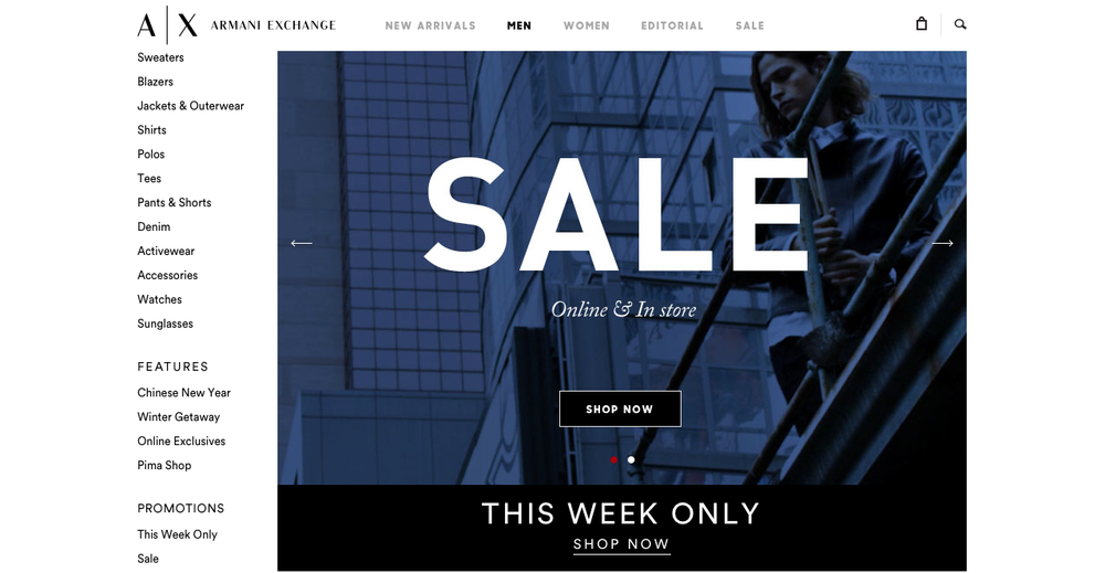 sales & Promotion pages
