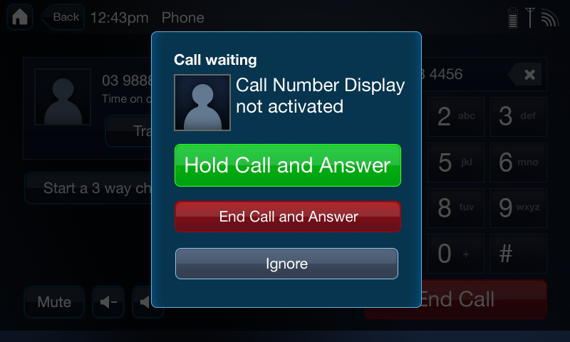 Caller ID & phone functionality
