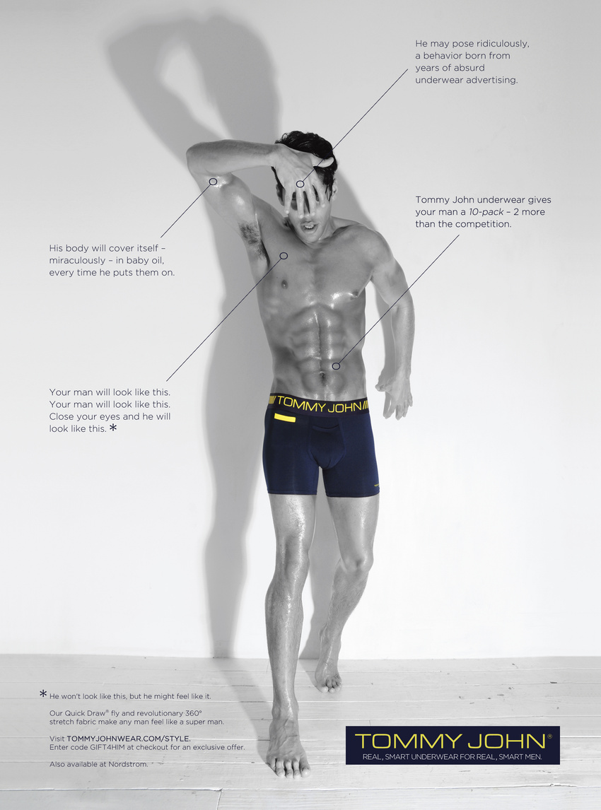 Print Ad for Tommy John as featured in InStyle magazine