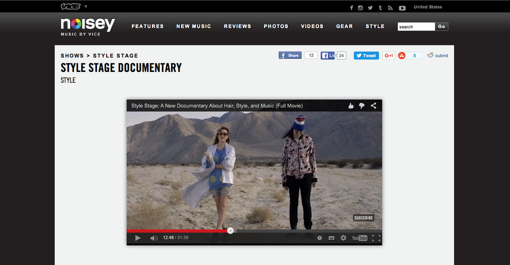 Style Stage: Noisey (VICE) collaboration with Fructis Garnier