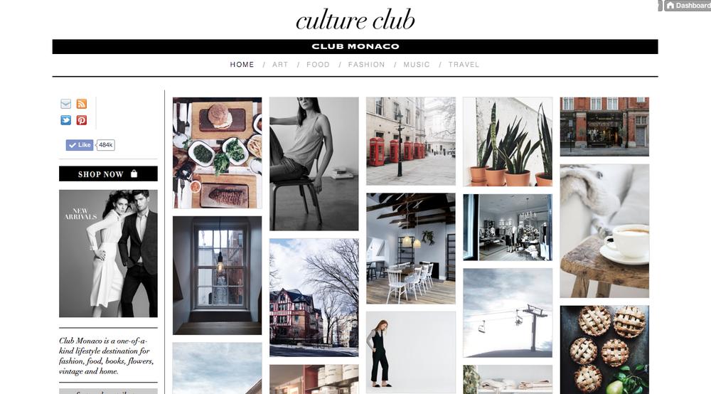 Club Monaco  'Culture Club' Tumblr