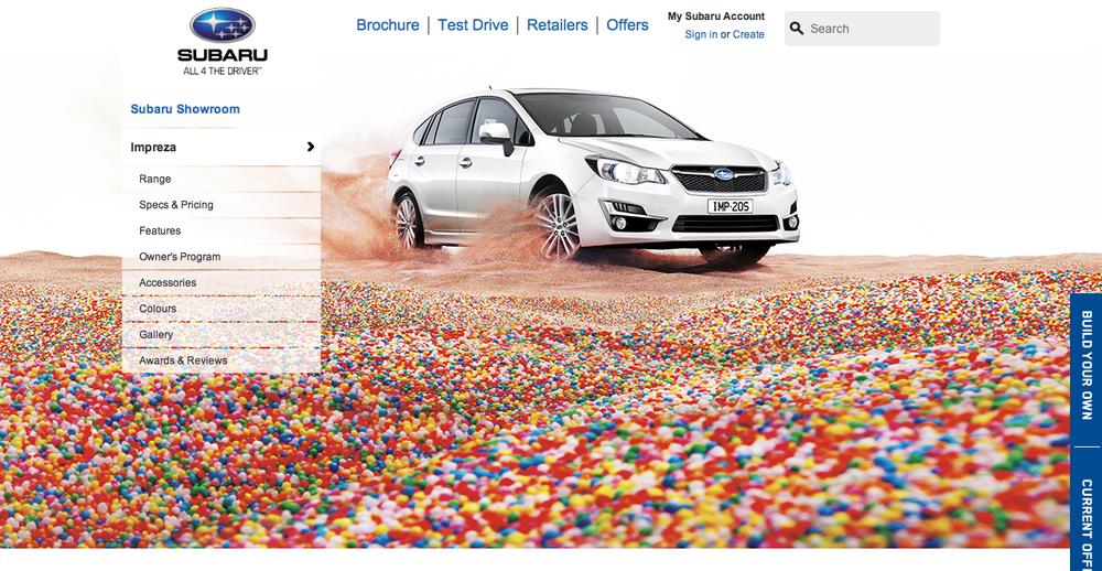 Subaru Australia  'All 4 the Driver' website