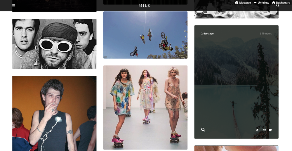 MILK - Tumblr design / layout