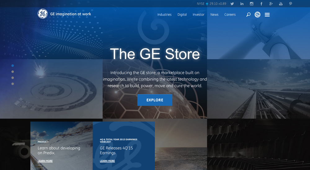GE.com  UX, Design, Website Build