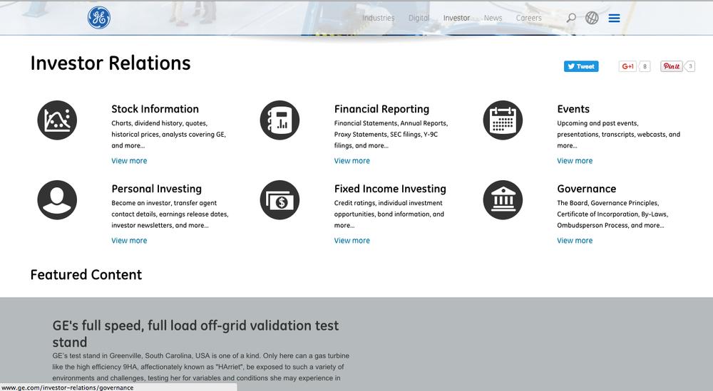 Investor Relations - navigation