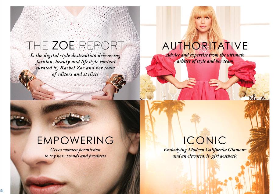 Media Kit - The Zoe Report Authoritative, Empowering & Iconic