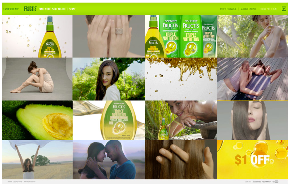 Garnier Fructis  'Find your strength to shine' - Microsite